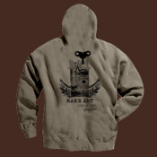 Make Art - Authentic Pigment 11 oz. Pigment-Dyed Ringspun Cotton Full-Zip Hood